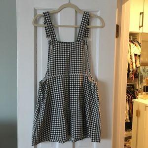 Dolls Kill Dresses - Mini Checkered Overall Dress